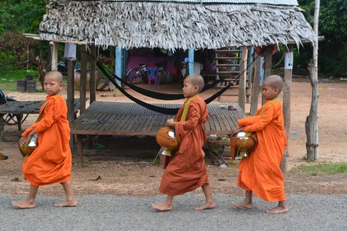 Buddhist children monks Cambodia